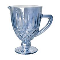 Jarra de vidro Greek 1L azul - Bon Gourmet