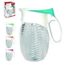 Jarra de vidro oriol colors 1,2 litros - Tampa Rosa - Comercial gomes