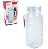 Jarra de vidro relevo c/tp. de plastico branco 1 lt na caixa - toquio - Wellmix