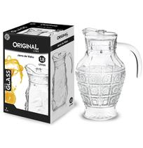 Jarra De Vidro Relevo Com Tampa De Acrilico Glass 1,8l Na Ca - Original line