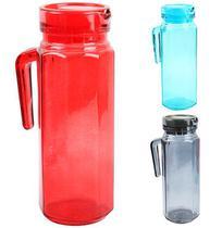 Jarra De Vidro Relevo Transcolor Lyss Com Tampa De Plastico 1L - Wellmix