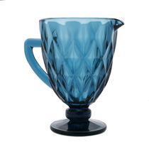Jarra de Vidro Sodo-Cálcico Diamond Azul 1,1L - Lyor