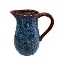 Jarra Decorativa Deep Sea em Cerâmica Azul - L'Hermitage - L Hermitage