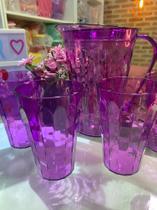 Jarra e 4 copos prisma lilás - Tupperware -