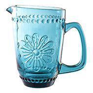 Jarra em vidro para água/suco 1,6l Woodstock Azul - L'hermitage -