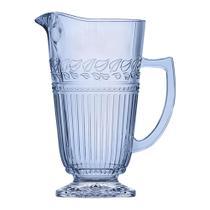 Jarra Republic em vidro com pe 1,2L cor azul luster - L Hermitage