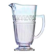 Jarra Republic em vidro com pe 1,2L cor furta cor - L Hermitage