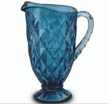 Jarra Vidro Agua Suco Azul Vitral 1,2 Litros - Mimo Style -