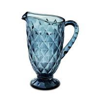 Jarra Vitral de Vidro 1,2 Litros - Azul - Mimo Style -