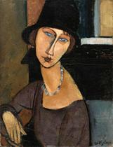 Jeanne Hebuterne - Amedeo Modigliani - 60x78 - Tela Canvas Para Quadro - Santhatela