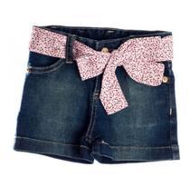 Jeans-Shortes  Hipster Com Faixa - Bicho Molhado - Tamanho 4 Ref: j123k -