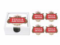 Jg 4 porta copos com suporte Stella Artois - Tecnolaser