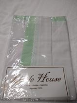 Jg. Lençol 180Fios Carrinho 3Pçs. c/B.I. e aplic. - Little House