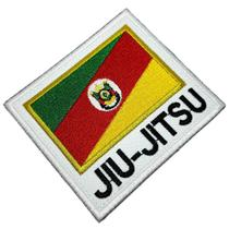 Jiu-Jitsu Rio Grande do Sul Patch Bordado Termo Adesivo - Br44