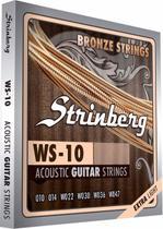 Jo de Cordas Violão Aço Strinberg Ws10 Extra Light 0.010 -