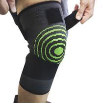 Joelheira 3D Elastica bandagem Compressão Exercício Joelhos Estabilidade Academia Apoio Suporte Articulação Fitness - Braslu
