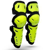 Joelheira ASW Image Strap Amarelo Fluor Cross Motocross -
