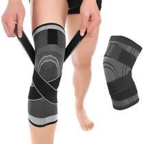 Joelheira Compressão Proteção Ajustável Fitness Esporte - Neoimp