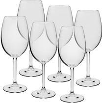 jogo 06 Taças Cristal Ecol P/vinho Tinto 450ml - Bohemia Gastro - Ricaelli