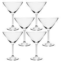 Jogo 06 taças para martini 280 ml gastro bohemia -