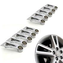 Jogo 10 Aplique de roda liga leve Hyundai I30 2009 a 2012 cromada - Gfm - Calotinha