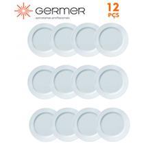 Jogo 12 Pratos Rasos 1ª Linha Capri Porcelana Branca Germer 25 cm - Gemer Porcelanas