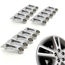 Jogo 15 Aplique de roda liga leve Hyundai I30 2009 a 2012 cromada - Gfm - Calotinha
