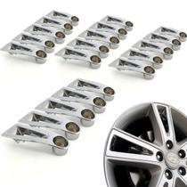 Jogo 20 Aplique de roda liga leve Hyundai I30 2009 a 2012 cromada - Gfm - Calotinha