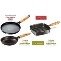 Jogo 3 Frigideira Fast Egg Cook Grill Tapioca Panela Mineira -