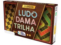 Jogo 3 Jogos Ludo, Dama e Trilha Tabuleiro - Pais e Filhos