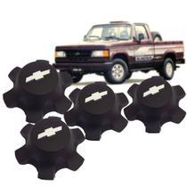 Jogo 4 Calota Central Roda 6 Furos Autoplast Silverado d20 c20 a20 veraneio Kit1227 -