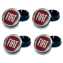 Jogo 4 Calota Centro Roda Fiat Palio Vermelho - Gfm - Calotinha