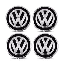 Jogo 4 Calota Centro Roda Original / KR VW UP Aro 15 / 17 Preta - Gfm - Calotinha