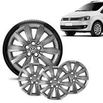 Jogo 4 Calota Volkswagen Vw Fox Aro 15 Grafite Brilhante - Gfm - Calota