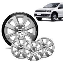 Jogo 4 Calota Volkswagen Vw Gol 2014 15 16 Aro 14 Prata - Gfm - Calota