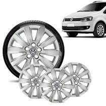 Jogo 4 Calota Volkswagen Vw SpaceFox Aro 15 Prata - Gfm - Calota