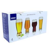 Jogo 4 copos para cerveja 25120/004 - Banquet Crystal -