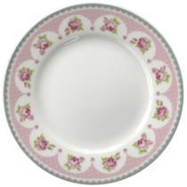 Jogo 4 Pratos para Sobremesa Rose Porcelana Super White Lyor -