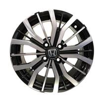 Jogo 4 Rodas BRW-1350 Honda Citi aro 15 4 x 100 diamante preto tala 6 -
