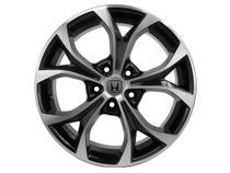 Jogo 4 rodas KR R-29 New Civic aro 17 5X100 preto e diamante tala 7 ET 40 -