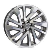Jogo 4 rodas KR S01 Nissan Frontier aro 18 6x114 grafite e diamante tala 8,5 ET 33 -
