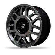 Jogo 4 rodas Volcano La Palma GT2 86 aro 17 4X100 preto e diamante tala 6 ET 40 -