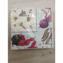 Jogo 40 guardanapos de papel decorados 33x33 cm pra mesa ou Decoupage - Kitchen