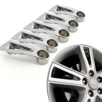 Jogo 5 Aplique de roda liga leve Hyundai I30 2009 a 2012 cromada - Gfm - Calotinha