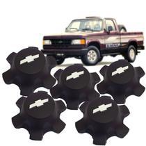 Jogo 5 Calota Central Roda 6 Furos Autoplast Silverado d20 c20 a20 veraneio Kit1234 -