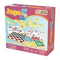 Jogo 5 em 1 - com 97 peças - Ciabrink