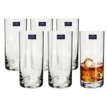 Jogo 6 Copos Altos Cristal Eco 350ml Barware Bohemia -