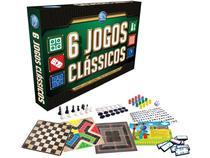 Jogo 6 Jogos Clássicos Tabuleiro - Pais & Filhos