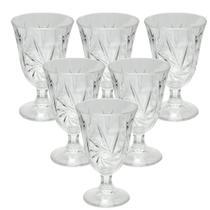 Jogo 6 taças para água suco vinho mesa posta wincy 226ml -
