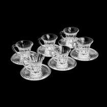 Jogo 6 Xícaras para Café em Cristal Diamond 105ml - Lyor -